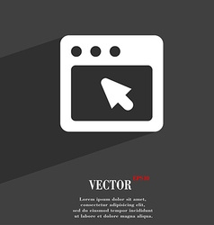 dialog box icon symbol Flat modern web design with vector image