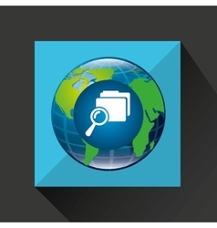 Earth global search folder connected media vector