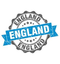 england round ribbon seal vector image