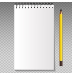 Realistic template notebook vector image