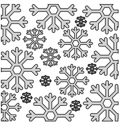 snowflake weather pattern background vector image