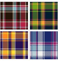 tartan patterns vector image vector image
