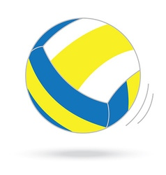 volleyball ball isolated white background vector image