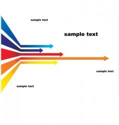 colored arrows vector image