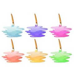 Six paint options vector image