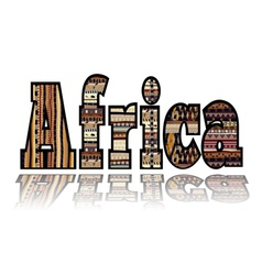 Africa with tribal elements vector image vector image