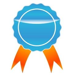Blue medal vector image