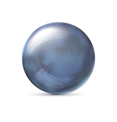 Blue metallic sphere vector image