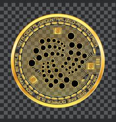 crypto currency iota golden symbol vector image