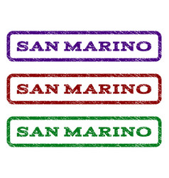 San marino watermark stamp vector