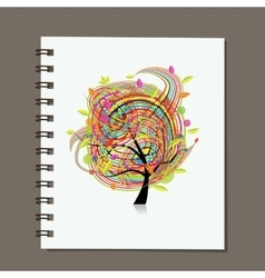 Notebook abstract colorful tree design vector image vector image