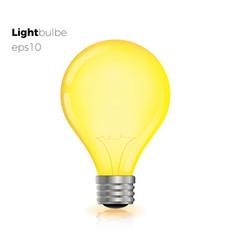 realistic creative light bulb yellow vector image