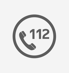 112 emergency call icon for vector image
