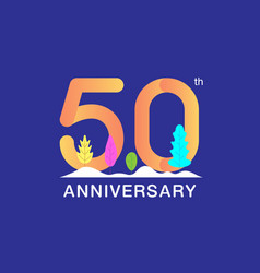 50 years anniversary celebration logotype vector image