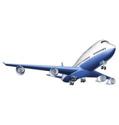 A large passenger plane vector