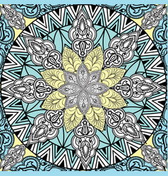 Abstract floral geometric pattern arabic ornament vector
