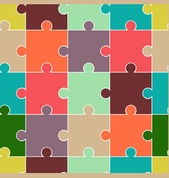 abstract seamless puzzle pattern for girls boys vector image