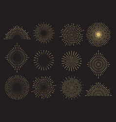 Abstract sun burst collection - hand drawn vector