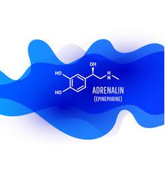 Adrenalin chemical formula with liquid fluid vector