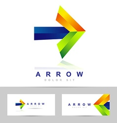 Arrow concept logo vector image
