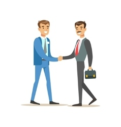 Bank Manager Meeting Handshaking With Important vector image
