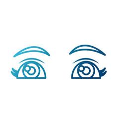 beautiful eyes cartoon vector image