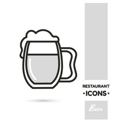 beer restaurant icon collection vector image