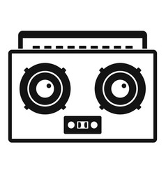 boombox icon simple style vector image