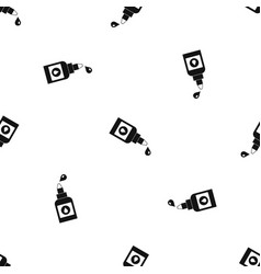 bottle for eye drops pattern seamless black vector image