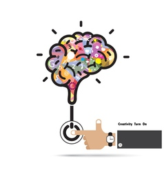 Brain opening concept vector image