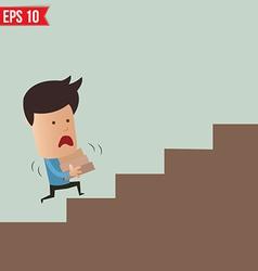 Business man lifting box - - EPS10 vector image