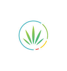 cannabis score meter round logo icon vector image