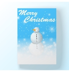 Christmas hollyday card with snowman vector