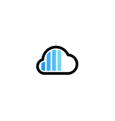 cloud charger charging indicator logo icon vector image