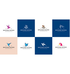 Collection bird logo design vector