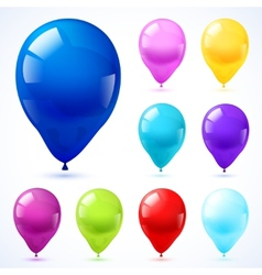Color balloons icons set vector
