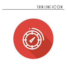 compass line simple icon weather symbols vector image