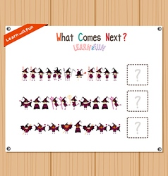 Completing the Pattern Educational Game for vector