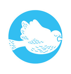cute dove isolated icon vector image