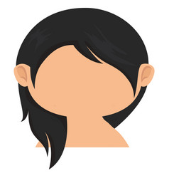 Cute little girl without blouse character vector