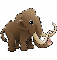 cute woolly mammoth vector image