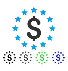 Dollar stars flat icon vector