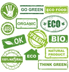 Ecological stamps vector image