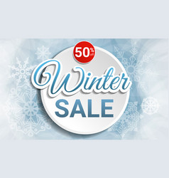 Final winter sale concept banner cartoon style vector