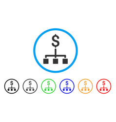 Financial hierarchy rounded icon vector