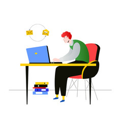freelance worker - modern flat design style vector image