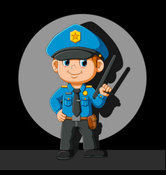 Good police doing happy pose vector