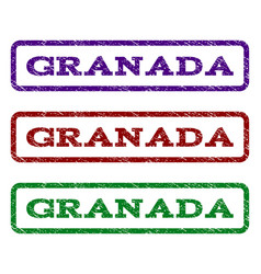 Granada watermark stamp vector