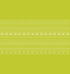 green tribal ikat seamless repeat pattern design vector image