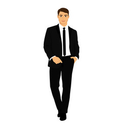 Groom businessman clothing vector